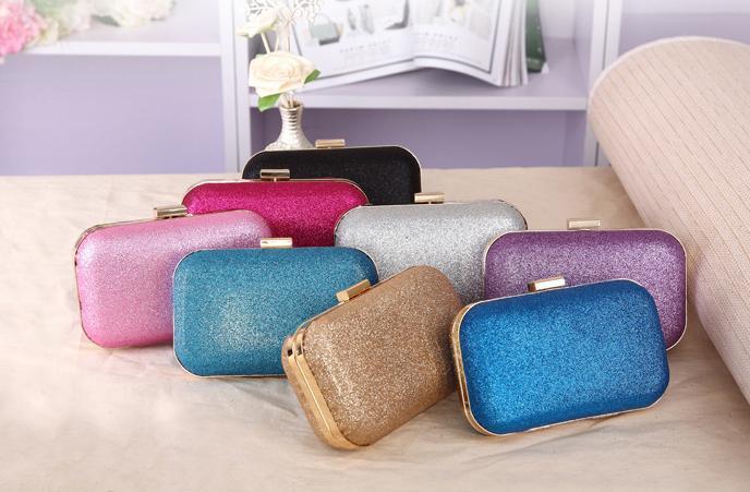 Women's bling party bag Korean Ladies Clutch Chain Box Evening Party Glitter Handbag Wallet Bag(China (Mainland))