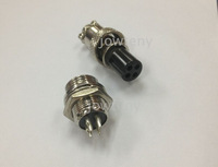 4 Pin Male Female Diameter 12mm Wire Panel XLR Chassis Mount Connector Circular Socket Plug 4PIN