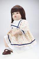 Free Shipping 28 Inch OEM Vinyl Dolls Toddler Baby Girl ARIANNA Real Love Doll Christmas Doll Vinyl