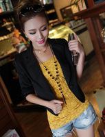 women's slim 1/2 sleeve jacket, big size women's blazer