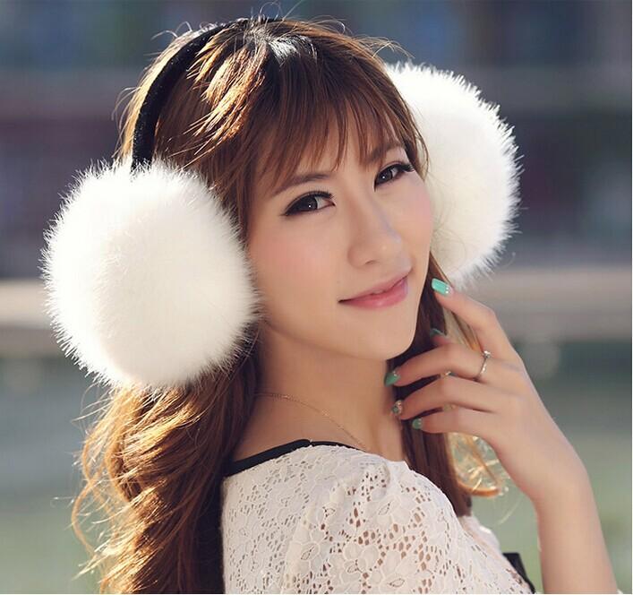 2014 NEW Fashion folding earmuffs Men and Women's warm autumn winter fox fur earmuffs Multicolor wholesale(China (Mainland))