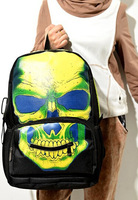 VEEVAN 2014 printing backpack men's backpacks gym sports bag hiking camping men's travel bags cool punk skull bag school bags
