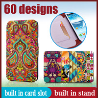 Flip Case For Samsung Galaxy Note2 N7100 Thin Wallet Cover N7100 PU Flip Note 2 II Leather Holder With Stand