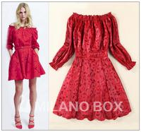 2015 runway dresses women high quality dresses brand dresses PU