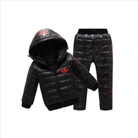 2014 Winter New Children Down Parkas Sets Girls And Boys Down jacket suit down coat + down pants Girls winter coat sets Clothing