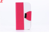 Fashion Leather Case For iphone 4 4S 5 5S Handbag Wallet Pouch With Card Holder Holder Stand Free Screen Flim and Stylus