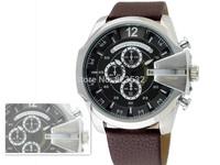 Atmospheric clock top brand fashion luxury sports DZ4290 watches,men's military  quartz watch,LEATHER waterproof Wristwatch