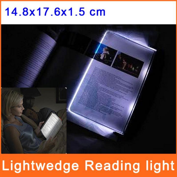 LED Lightwedge Reading Light Book Lights Night Vision Flat Plate Portable Car Travel Panel Lamp BL001(China (Mainland))
