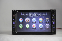 Wholesale universal 2Din 6.2 inch Car multimedia player with GPS  MP3 USB SD Bluetooth TV Free map for all cars