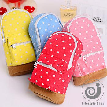 Новый корейский большой емкости холст рюкзак горошек карандаш сумка школа пенал чехол ...