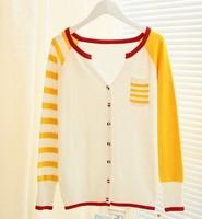 Autumn and winter 2015 Korean Women loose plus size long cardigan sweater coat Women knit Thicken sweater