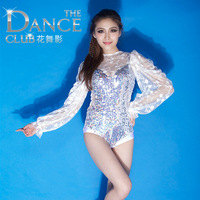 Wholsales Colorful laser sequin sexy lace costumes fashion female singer ds costume jazz dance clothes