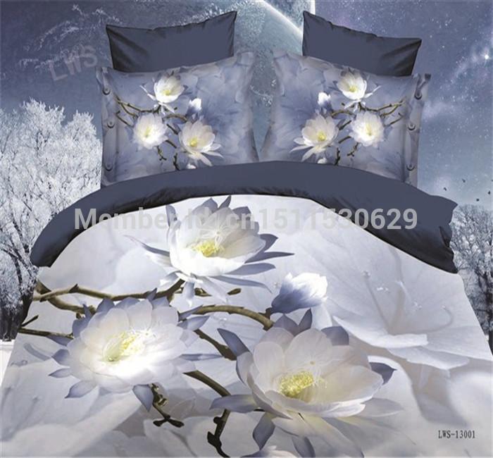 Têxtil de quilt Cover 4 Pcs conjuntos de cama capa de edredão de luxo congelado folha de cama fronha, capa de edredão roupa de cama(China (Mainland))