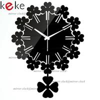 KEKE BRAND!Original design pendulum clock hang clock wall decoration Acrylic Mirror clock,Free shiping!