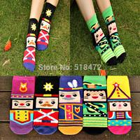 New style winter/spring good quality socks fashion Cotton Meias Diamond supply Brand Women socks Nutcracker cartoon socks