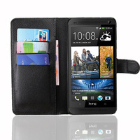 Wallet Stand Design Leather Folio Case for HTC One Max Mobile Phone Bag Cover with Card Holder
