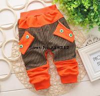 Fashion Baby Boy Pants Cotton Toddler Baby Knitted Leisure Trousers Kids Autumn Clothing 7-24M Pants 1pcs Free shipping TKU-1401