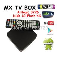 1pc IPTV 18 Android 4.0 Google TV Box XBMC Midnight Amlogic 8726 M3 ARM Cortex A9 Linux XBMC Optional Sports TV XXX