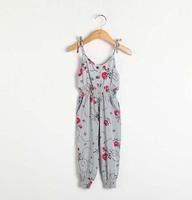 Retail spring 2014 fashion kids children grils overall pant topolino jumpsuit roupas de bebe baby overalls denim summer romper