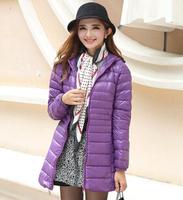 New 2014 Fashion Brand Winter Coat Women White Duck Down Jacket Female Coats With Hood Army Green Black Outwear For Women