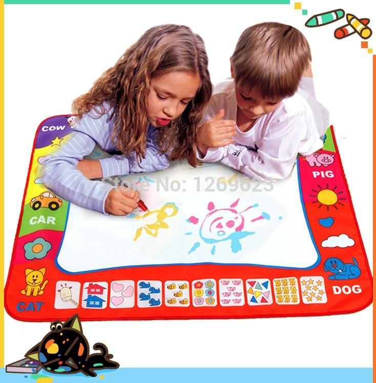 Spedizione gratuita, aqua doodle dei bambini disegno di acque di giocattoli stuoia penna magica bambino giocattolo educativo di apprendimento e giocattolo educativo 80*60cm