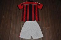 new Free Shipping high quality 2015 14 15 AC Milan home kids Soccer  Jersey  Soccer Shirt.