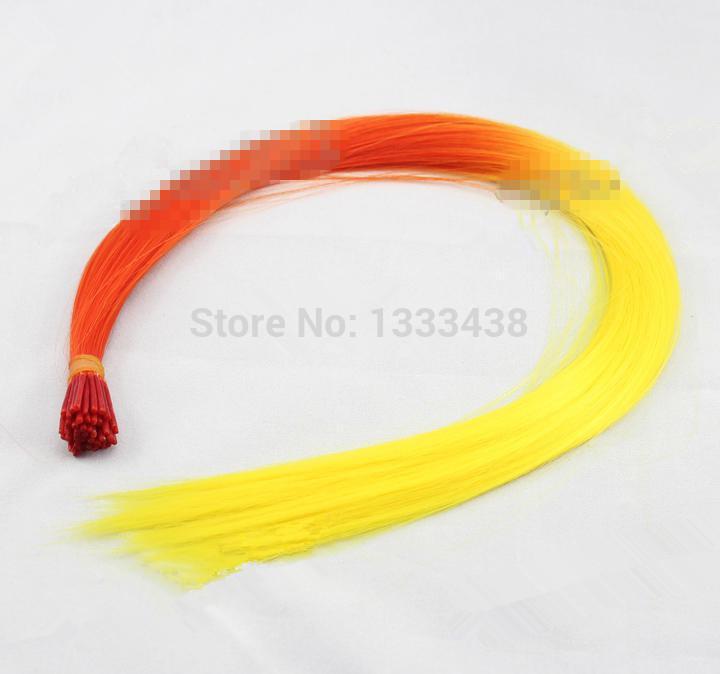 16 '' 100 pcs / комплект mutiple цвета петух пушистый волос расширение для вас волосы