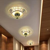 5W modern led ceiling lights for living room crystal lighting hallway lamp AC110V AC127V AC220V AC230V AC240V  light fixture