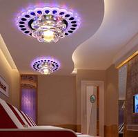 3W modern led ceiling lights for living room crystal light led lamp AC220V AC230V AC240V luminaire decoration abajur