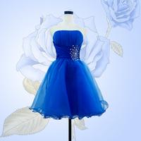 2014 new arrival short blue fashion crystal design sweetheart blue short women prom dress HCF10-1 short bandage dress