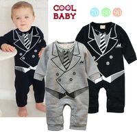 2014 summer baby boys jumpsuits newborn rompers gentlemen tie dress suits He-man short sleeve Baby bebe clothes