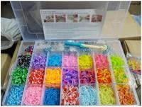 Rubber loom bands kit diy colorful Bracelets For Kids