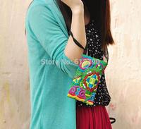 Women Bag, Handbag Purse National  Embroidered Phone bag, Hand made Vintage Handbag with flower,  Free Shipping