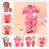 new 2014 newborn Baby clothing,Cute hello kitty children hoodies+pants 2pcs baby girls clothing set,multi style conjuntos cloth