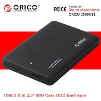 "ORICO 2559US3 2.5"" SSD USB 3.0 Hi-Speed External SATA Hard Disk Drive Case Caddy HDD Enclosure"