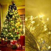 50M 300 LED Decoration Light Warm White Wedding Fairy Christmas Tree Party Twinkle String Lighting Outdoor EU Luminaria T0583