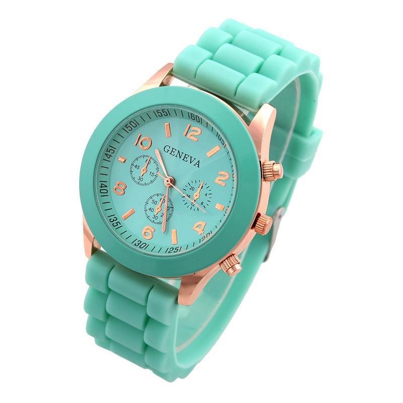 Bestselling Quartz Watch Fashion Geneva Silicone Wristwatches Women Casual Watches Analog Ladies Jelly Hot Sale(China (Mainland))