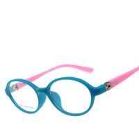 2014 New Girls Boys optical eyewear frames Flexible Radiation Protection myopia Eyeglasses Spectacles Glasses Frame