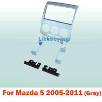 2 din carro fascia / Car Fascia Panel / Audio Panel Frame / Dash Kit For Mazda 5 2005-2011 ( Gray ) Free Shipping