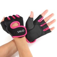 2015 Womens Mens High Quality New Cycling Fitness Sport Gloves GYM Half Finger Weightlifting Exercise Training Gloves
