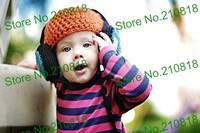 Crochet Baby Boy Hat, Headphone Beanie Orange Handmade Headphone 20pcs/lot Hat Free shipping