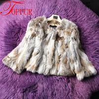 2015 New Women Fashion Brand Design Real Genuine Natural Rabbit Fur Coat DHL/EMS Free Shipping FP311