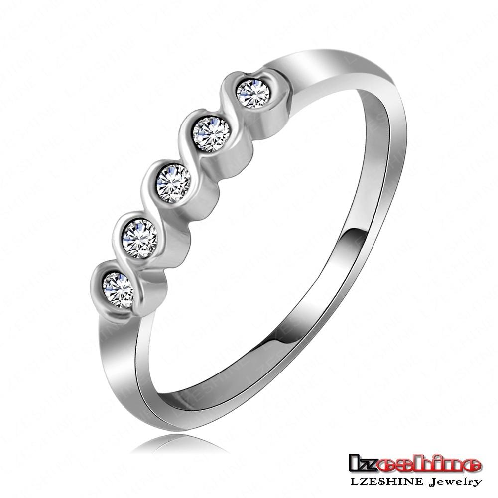 2015 New Fashion Hot Sale Korean Jewelry Beautiful Ring imple Single Row of Small Imitation Diamond Ring Free ShippingRi-HQ1085(China (Mainland))
