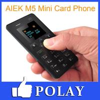 AIEK M5 V5 Card Mobile Phone 4.5mm Ultra Thin Pocket Mini Phone Dual Band Low Radiation AEKU M5 + Engkis/Russian Keyboard