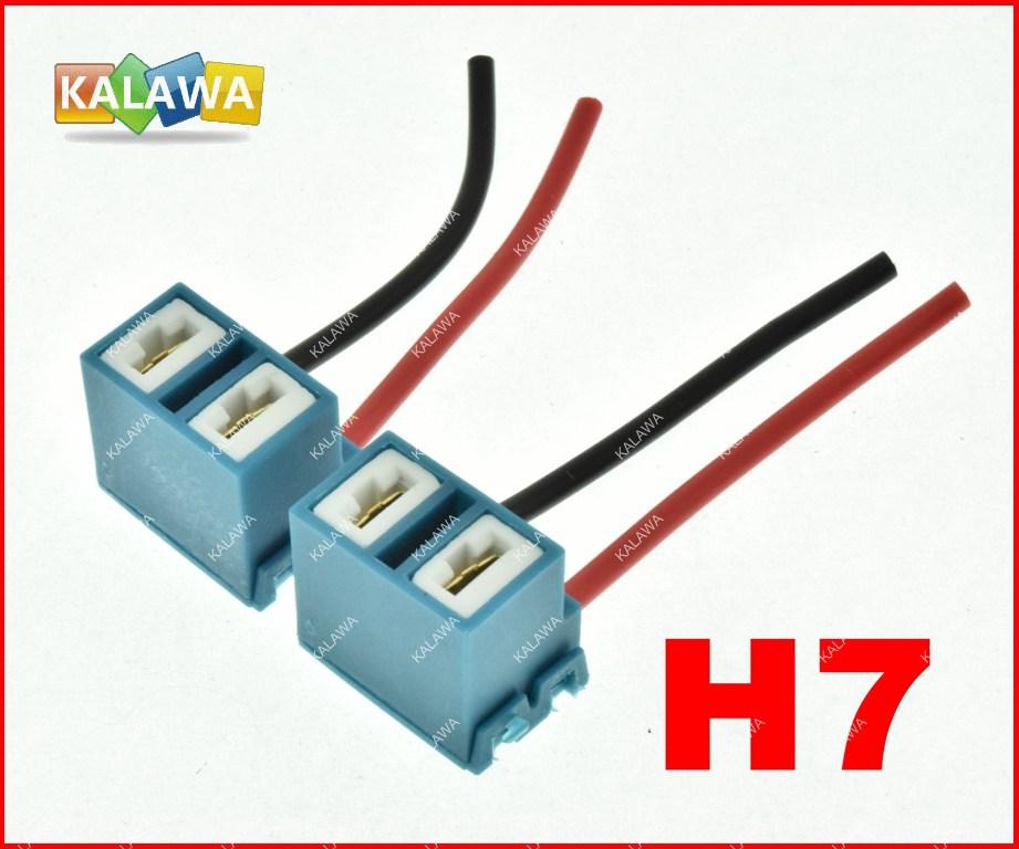 2pcs/lot Ceramic Copper Bend H7 bulb socket,auto lamp base adapters car headlight connector FREESHIPPING GGG(China (Mainland))