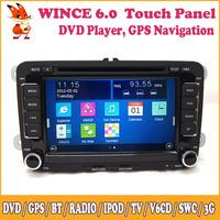Wince Car GPS DVD Support Audio Video 3G Dual Zone 3G Bluetooth SWC For VOLKSWAGEN Sagitar Magotan Tiguan Polo Eos Rapid