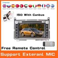 Universal 2 Din car dvd automotivo player for toyota venza 2008 W/GPS Navi+AM FM Radio+BT+Audio+Russian+Free Map,Steering Wheel