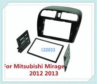 2 Din carro fascia / Car Fascia Panel / Audio Panel Frame / Dash Kit For Mitsubishi Mirage 2012 2013 Free Shipping