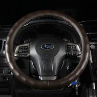 Subaru xv forester ourback and legacy slip-resistant genuine leather steering wheel cover four seasons slams