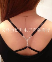 2015 NEW ArrivalLadies fashion Sexy ADJUSTABLE BRA BELT SHOULDER STRAP  shiny crystal party star wholesale retail